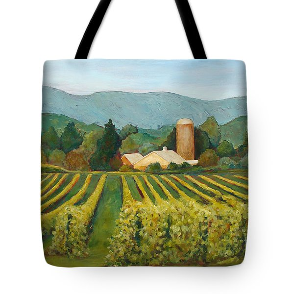 Raspberry Rows Tote Bag