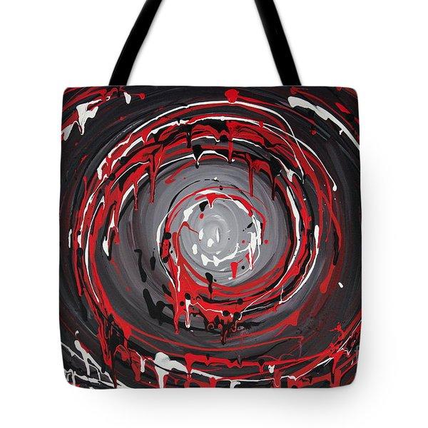 Raspberry Swirls Tote Bag