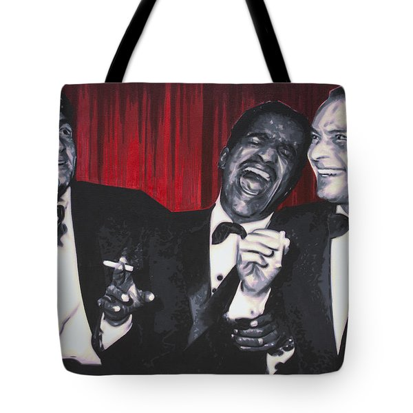 Tote Bag featuring the painting Rat Pack by Luis Ludzska