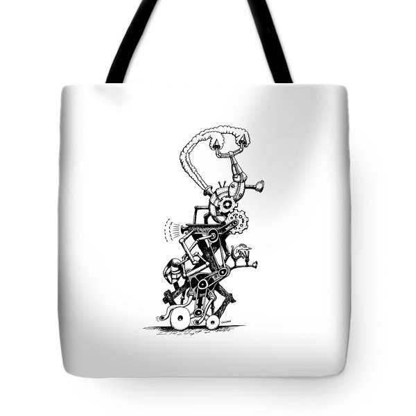 Rat Reverse-cycle Steam Engine Tote Bag