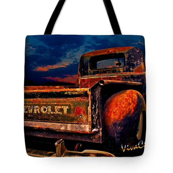 Rat Rod Chevy Truck Tote Bag
