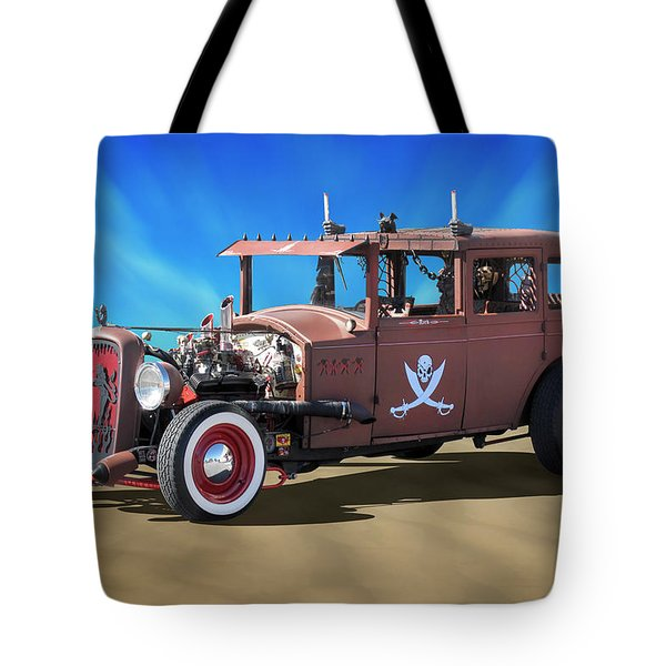 Tote Bag featuring the photograph Rat Rod On Beach 3 by Mike McGlothlen