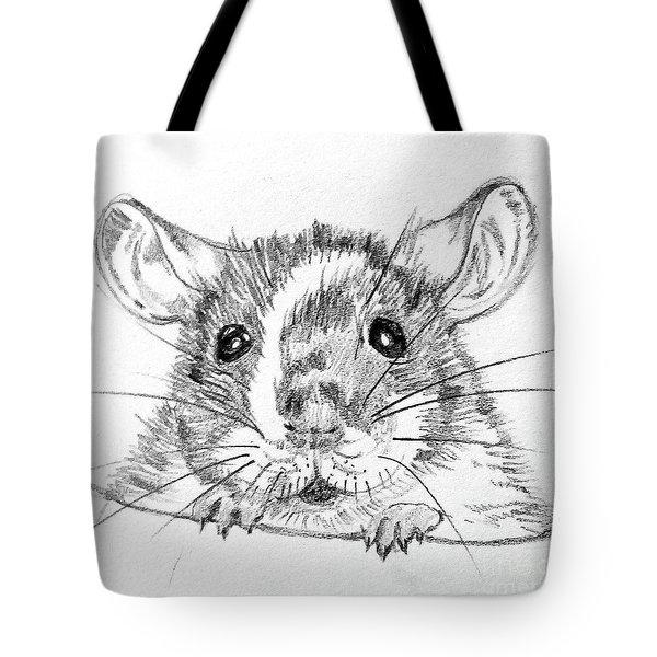 Rat Sketch Tote Bag