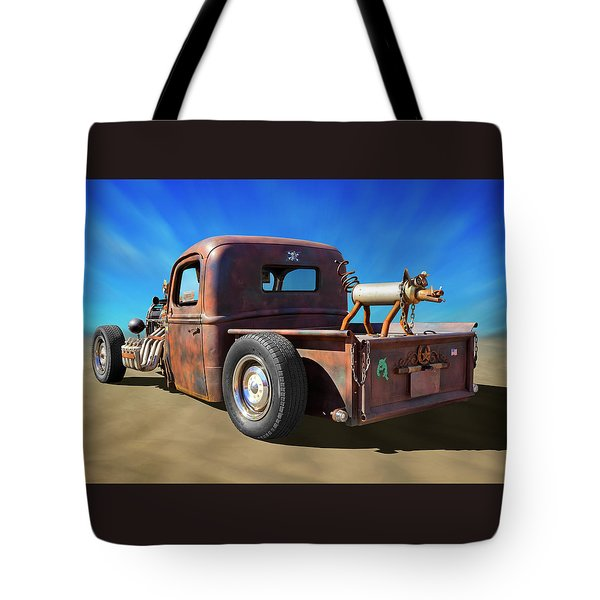 Tote Bag featuring the photograph Rat Truck On Beach 2 by Mike McGlothlen