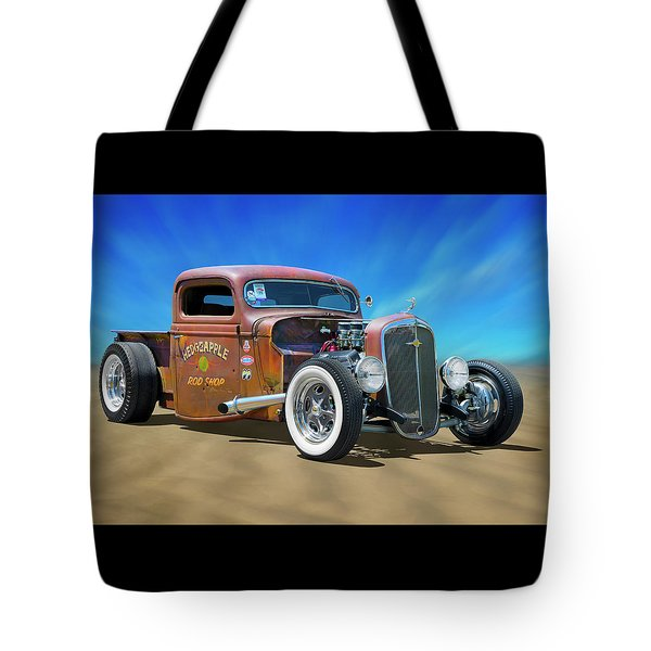 Tote Bag featuring the photograph Rat Truck On The Beach by Mike McGlothlen