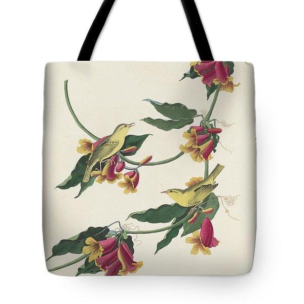 Rathbone Warbler Tote Bag by Dreyer Wildlife Print Collections