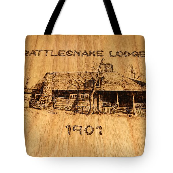Rattlesnake Lodge  Tote Bag