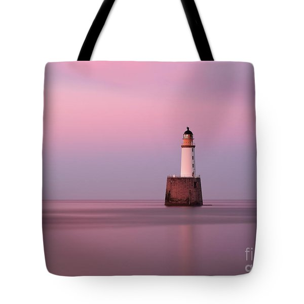 Rattray Head Lighthouse At Sunset - Pink Sunset Tote Bag