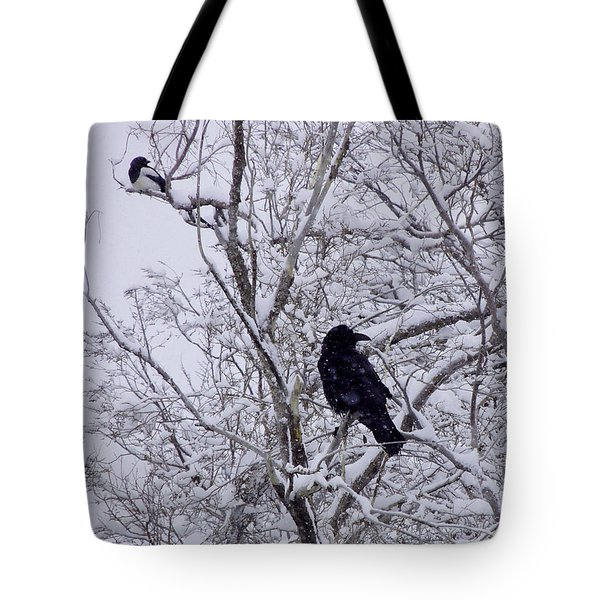 Raven And Magpie Tote Bag