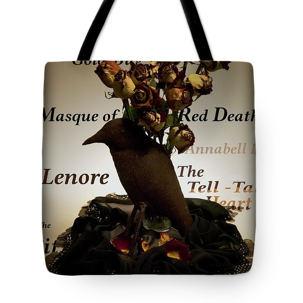 Raven And Roses Tote Bag
