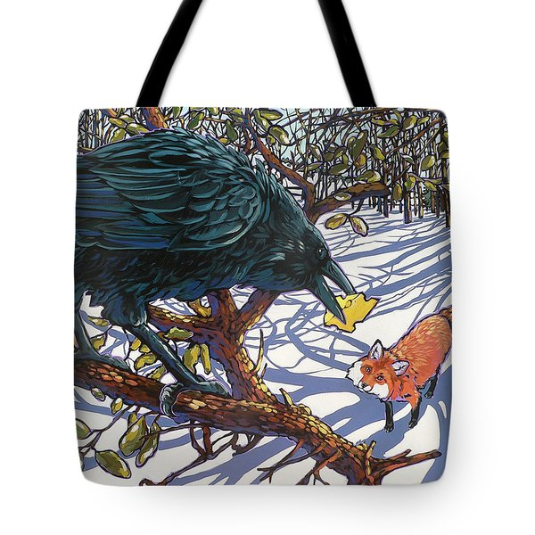 Raven And The Fox Tote Bag by Nadi Spencer