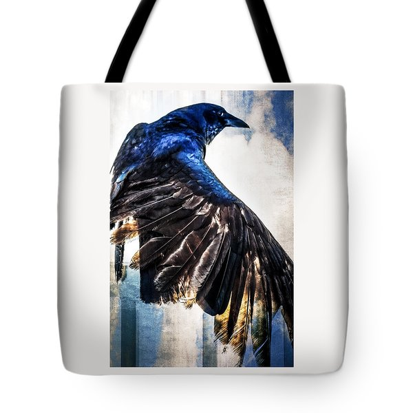 Raven Attitude Tote Bag by Carolyn Marshall