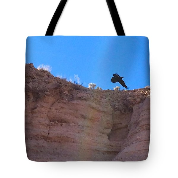 Raven Tote Bag by Brenda Pressnall