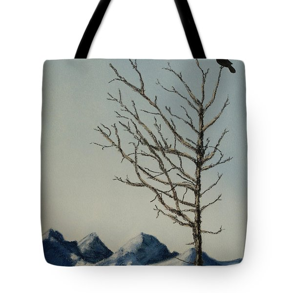 Tote Bag featuring the painting Raven Brought Light by Stanza Widen
