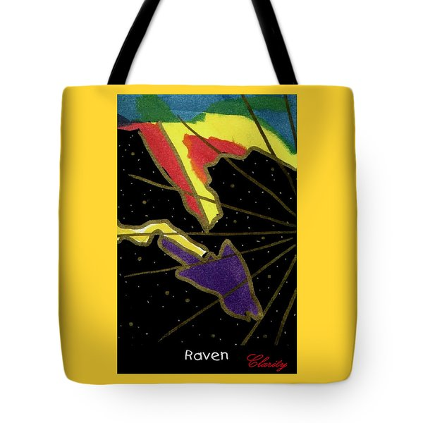 Tote Bag featuring the painting Raven by Clarity Artists