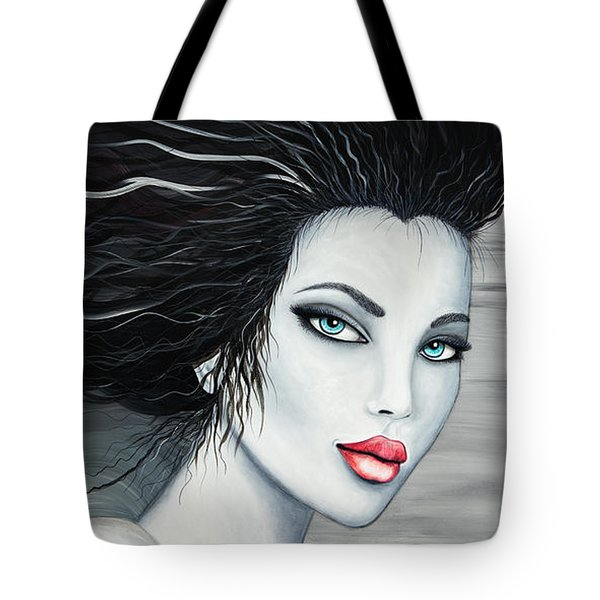 Tote Bag featuring the painting Raven by Daniel George