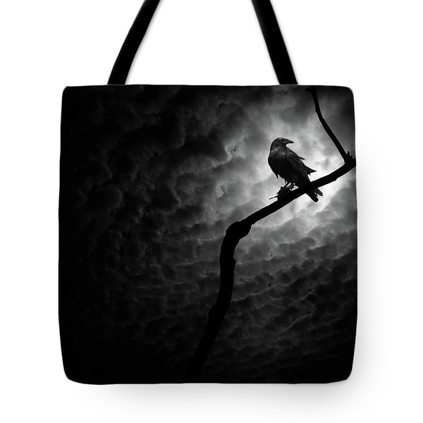 Raven, Death Valley Tote Bag by Marius Sipa