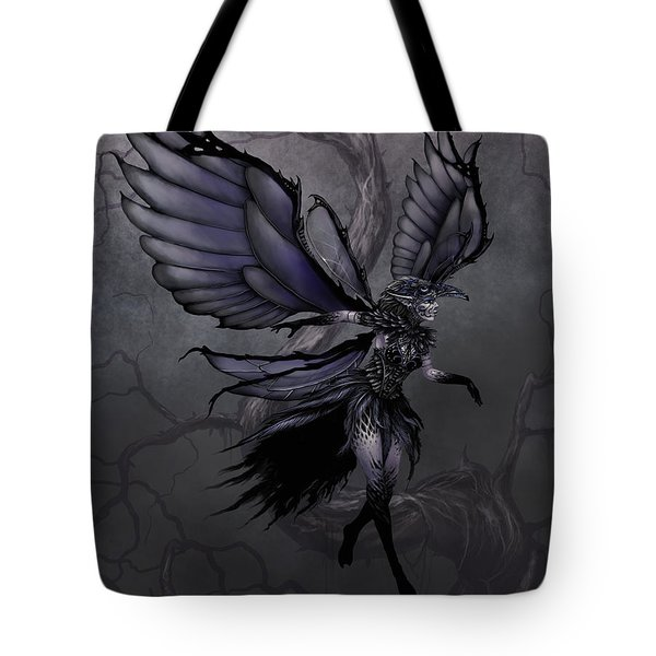 Tote Bag featuring the digital art Raven Fairy by Stanley Morrison