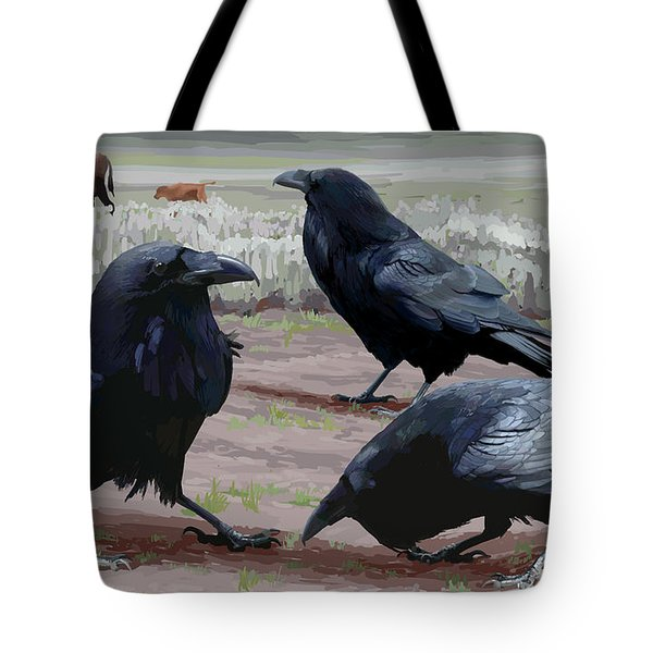 Raven Gathering Tote Bag