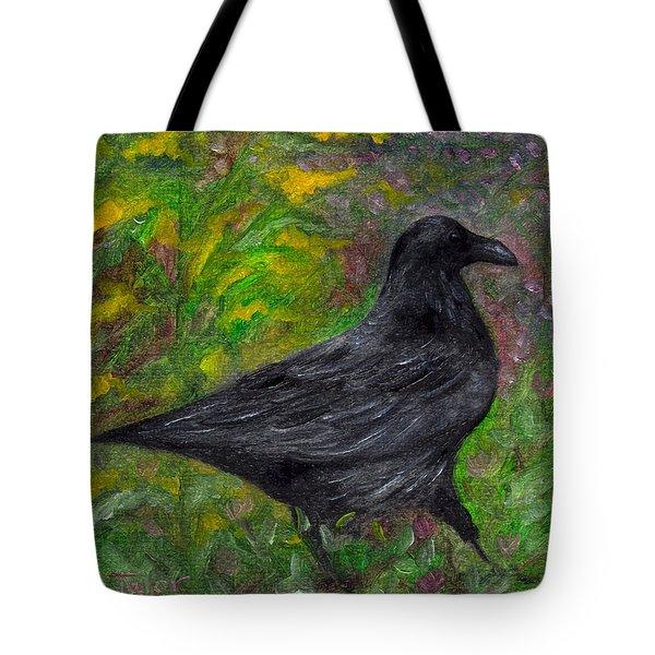 Raven In Goldenrod Tote Bag
