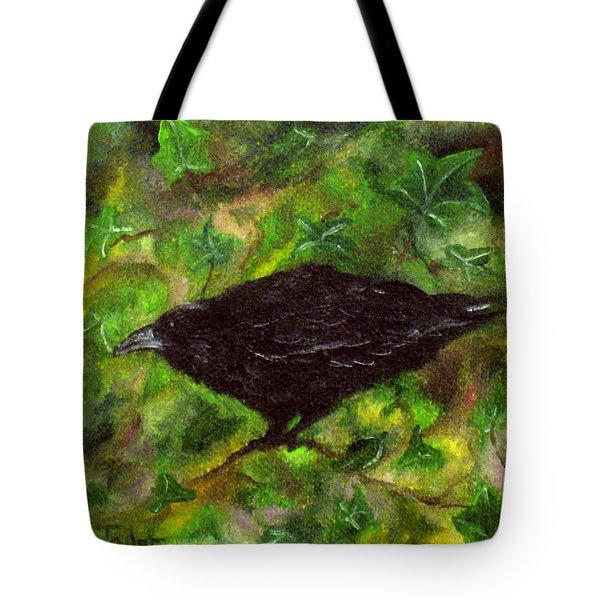 Raven In Ivy Tote Bag