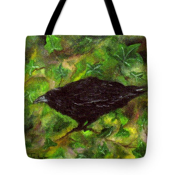 Raven In Ivy Tote Bag