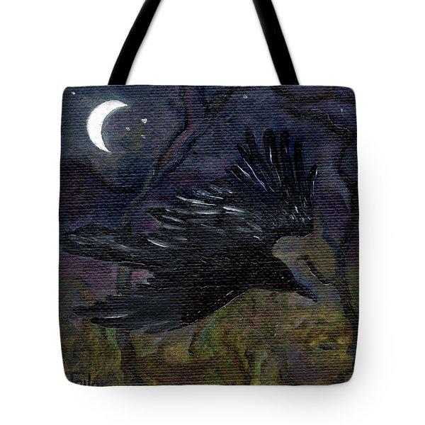 Raven In Stars Tote Bag