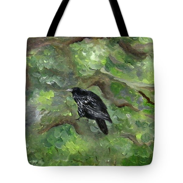 Raven In The Om Tree Tote Bag
