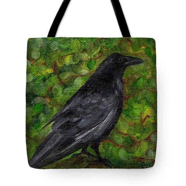 Raven In Wirevine Tote Bag