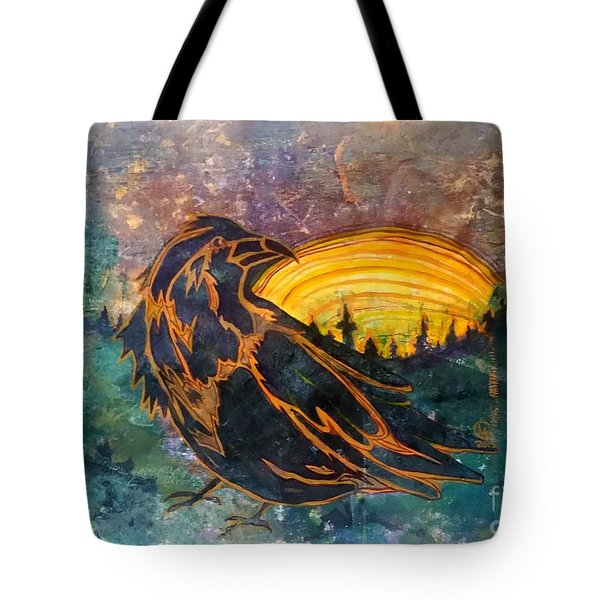 Raven Of The Woods Tote Bag