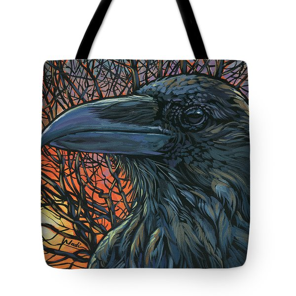 Raven Orange Tote Bag by Nadi Spencer