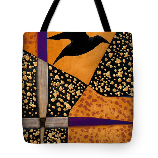 Raven Paints Light Tote Bag by Carol Leigh