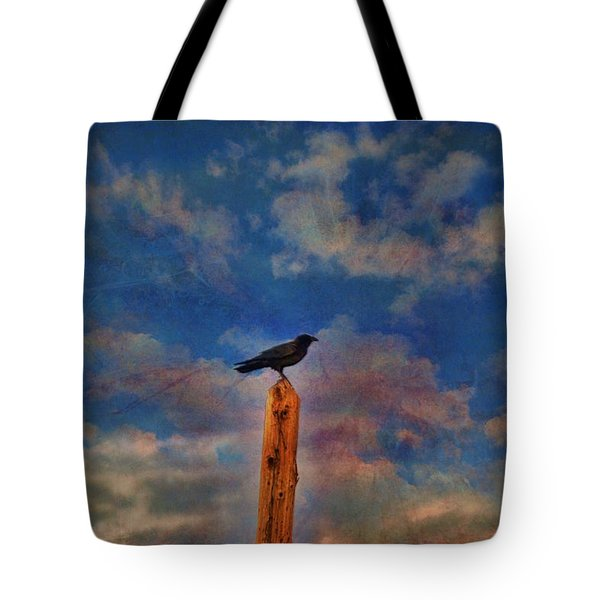 Tote Bag featuring the photograph Raven Pole by Jan Amiss Photography