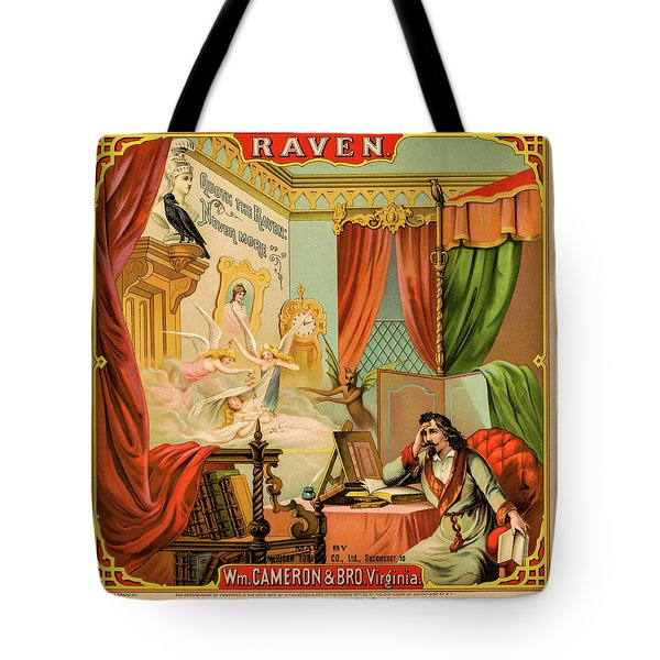 Tote Bag featuring the photograph Raven Tobacco by David Letts
