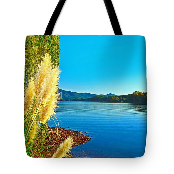 Ravenna Grass Smith Mountain Lake Tote Bag
