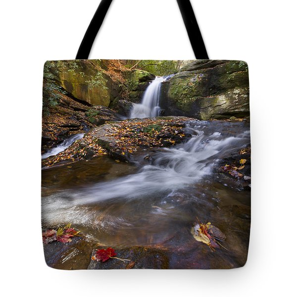 Ravens Cliff Tote Bag by Debra and Dave Vanderlaan