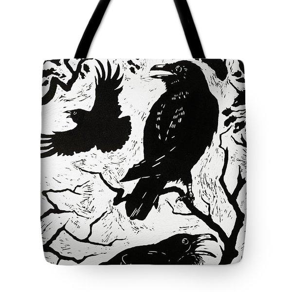 Ravens Tote Bag by Nat Morley