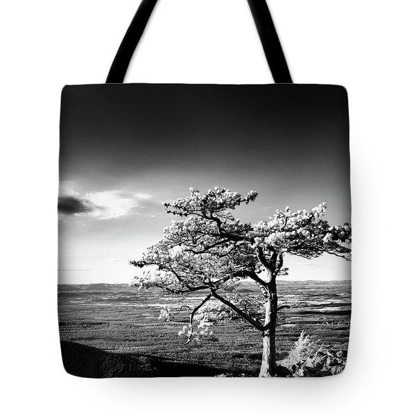 Tote Bag featuring the photograph Ravens Roost Ir Tree by Kevin Blackburn