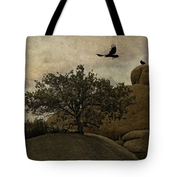 Ravens Searching For Food Tote Bag