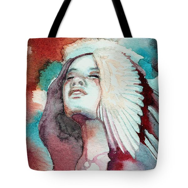 Tote Bag featuring the painting Ravensara by Ragen Mendenhall