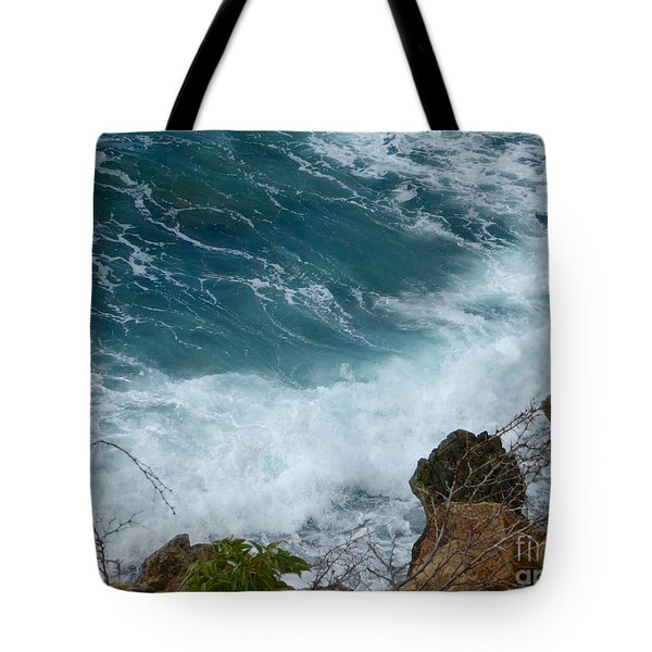 Raw Blue Power Tote Bag