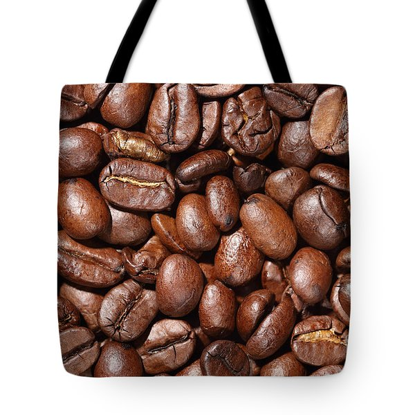 Raw Coffee Beans Background Tote Bag