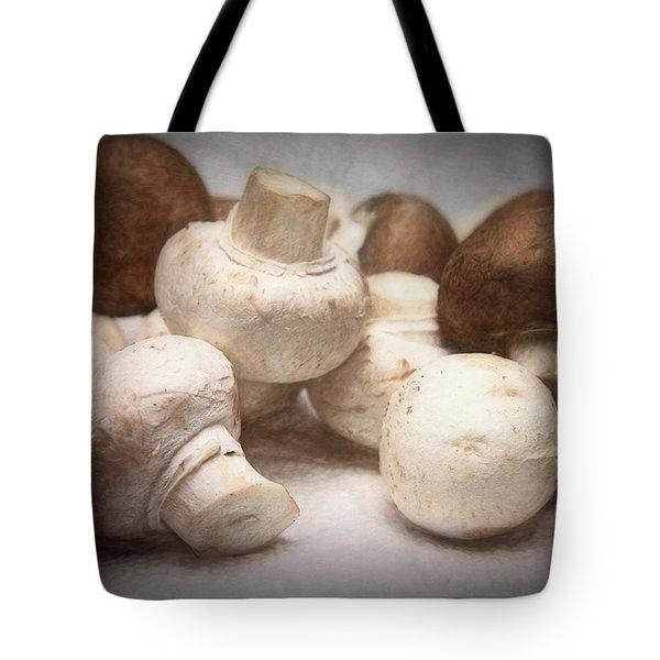 Raw Mushrooms Tote Bag