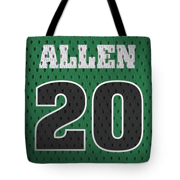 Ray Allen Boston Celtics Retro Vintage Jersey Closeup Graphic Design Tote Bag
