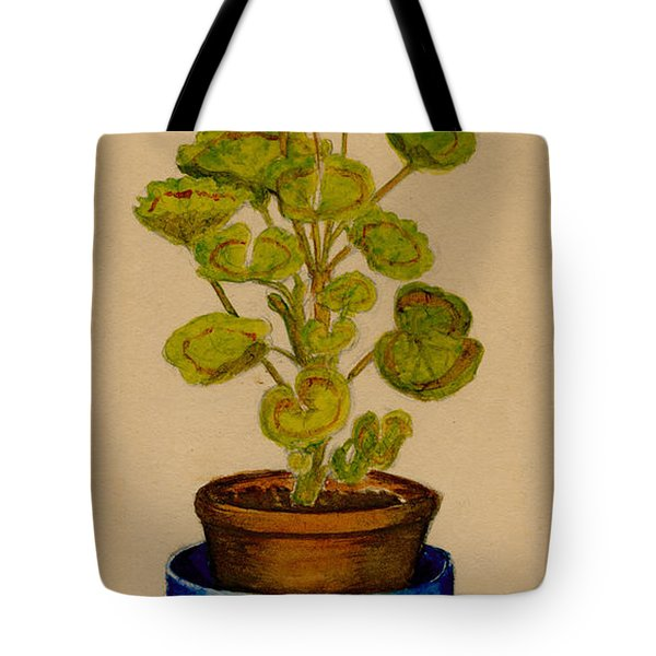 Tote Bag featuring the painting Ray-bet Geranium by Betty Hammant