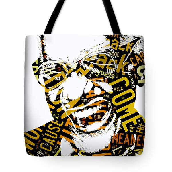 Ray Charles Hit The Road Jack Tote Bag by Marvin Blaine