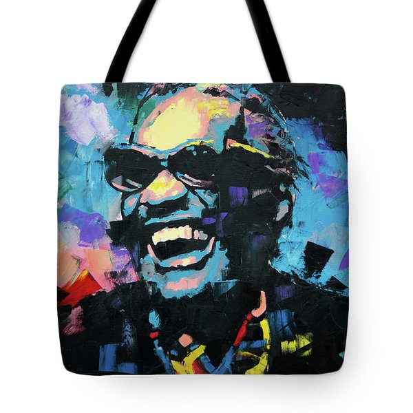 Tote Bag featuring the painting Ray Charles by Richard Day