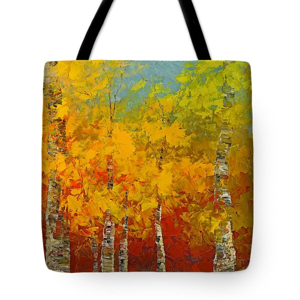 Tote Bag featuring the painting Ray Of Gold by Tatiana Iliina