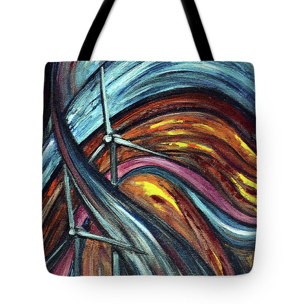 Tote Bag featuring the painting Ray Of Hope 2 by Harsh Malik