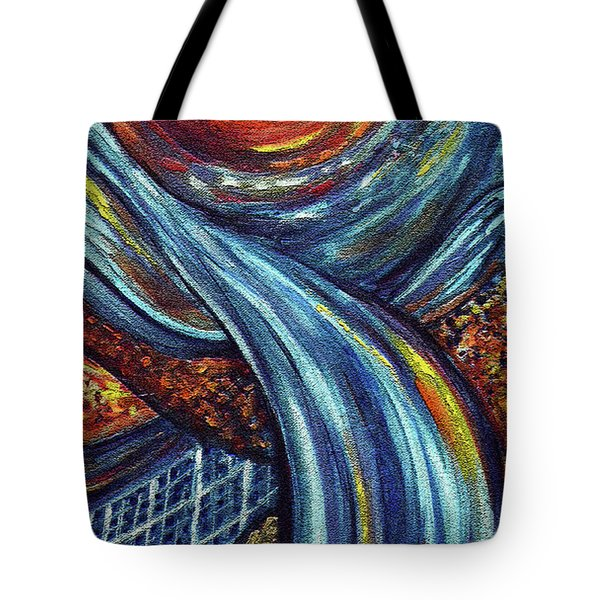 Tote Bag featuring the painting Ray Of Hope 3 by Harsh Malik